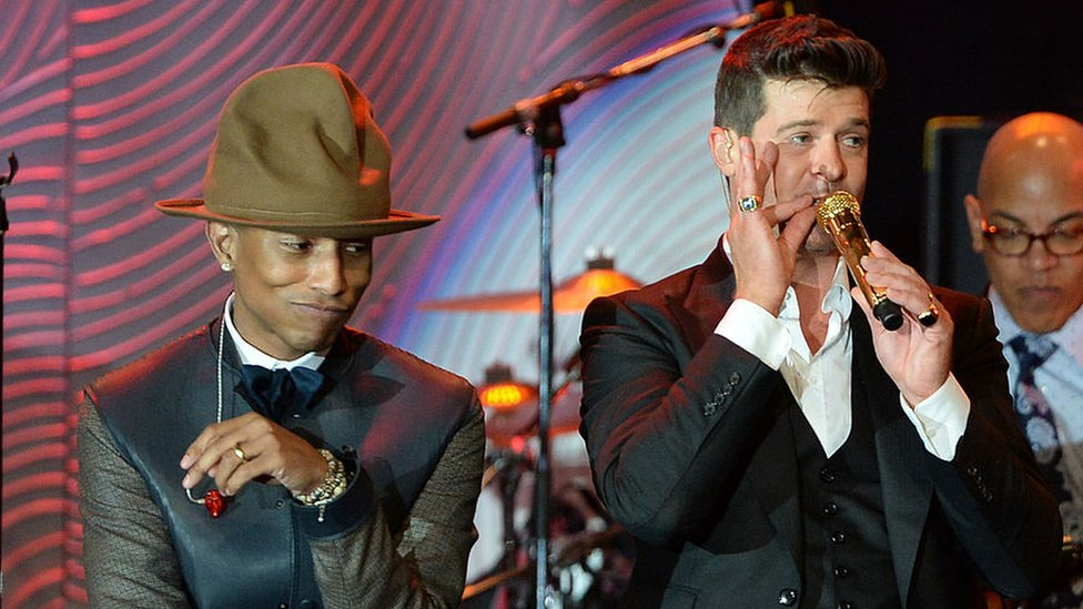 Pharrell Williams y Robin Thicke