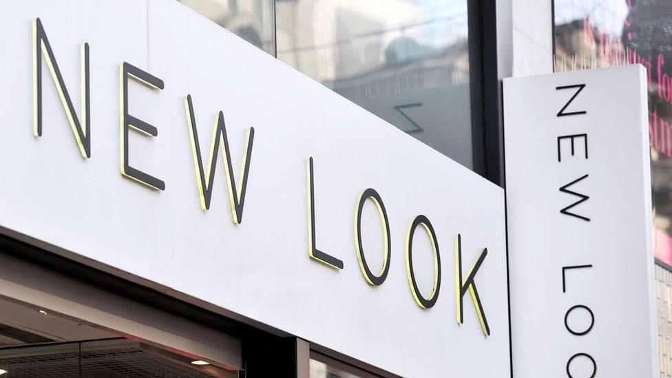 New Look shop sign