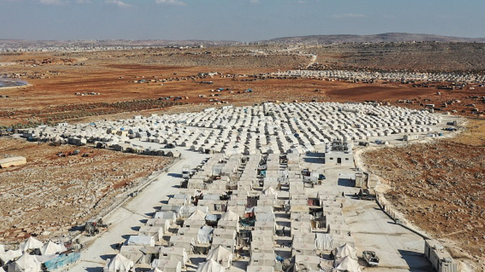 The Turkish Red Crescent camp, pictured here, hosts nearly one million displaced Syrians along the Turkish-Syrian border