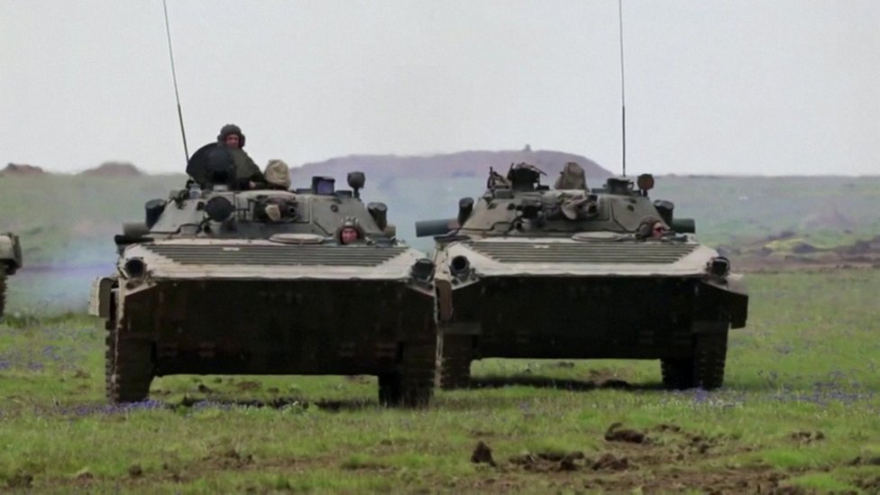Russia says the units in Crimea and near the border with Ukraine have been on military exercise