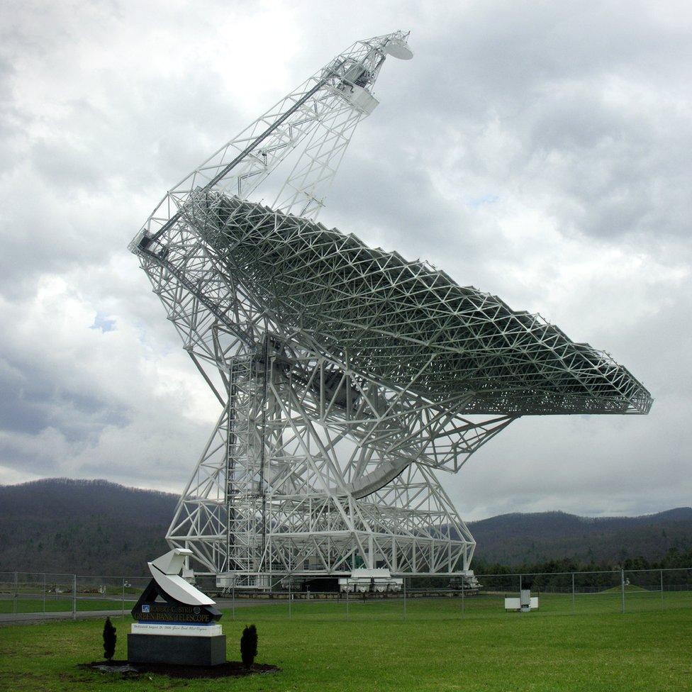 Robert C Byrd telescope, Green Bank, Virginia