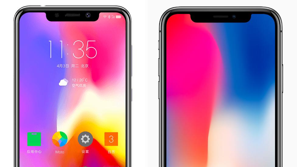 Motorola P30 and iPhone X