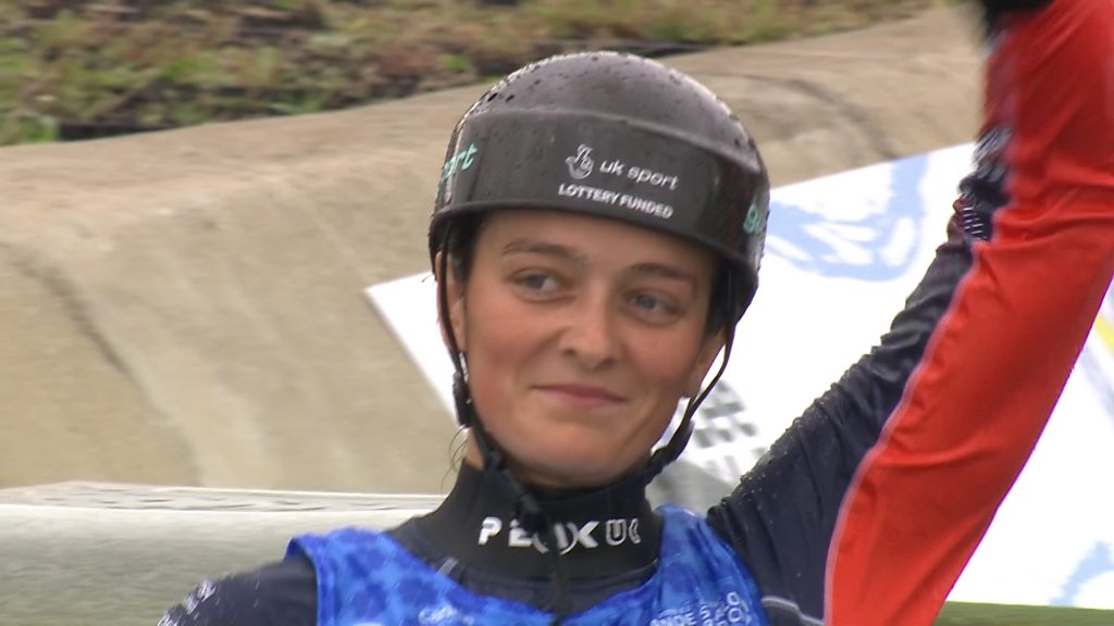 Canoe Slalom World Cup: GB's Mallory Franklin wins K1 gold