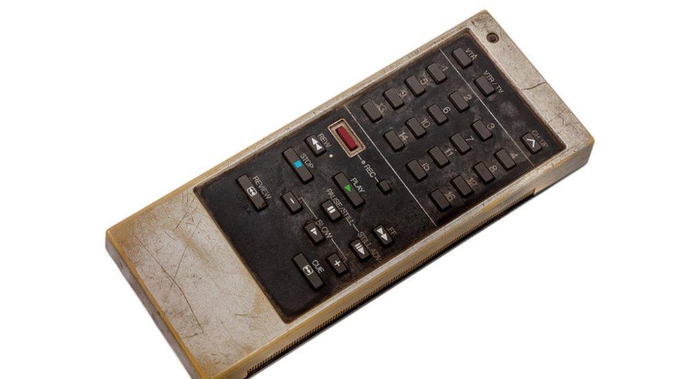 Un control remoto con números