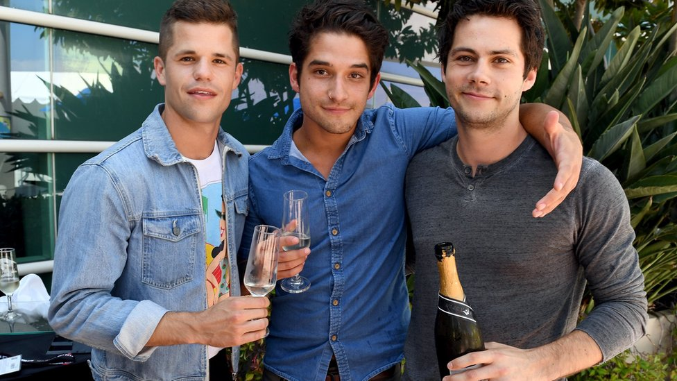 Teen Wolf cast members Charlie Carver, Tyler Posey and Dylan O'Brien
