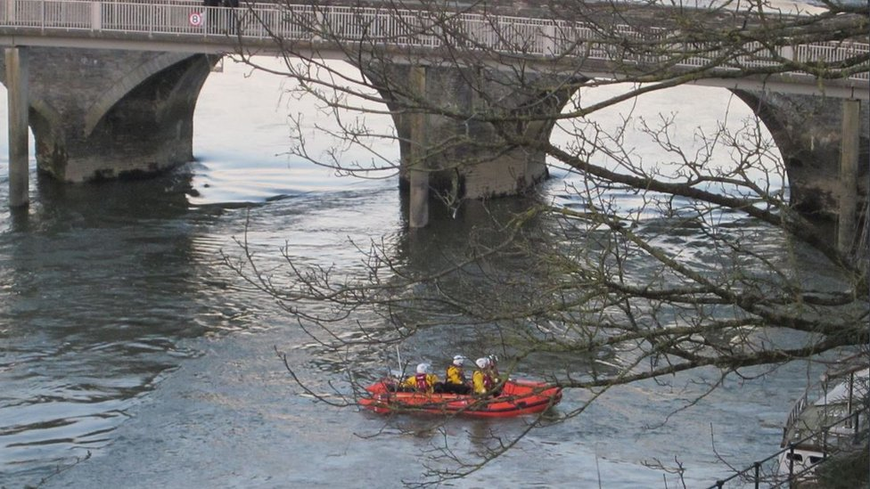 Coastguard rescue teams and the RNLI searched the River Teifi.