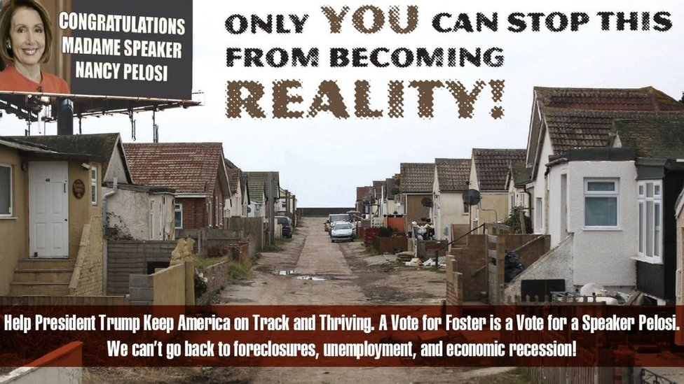 Campaign ad featuring Jaywick