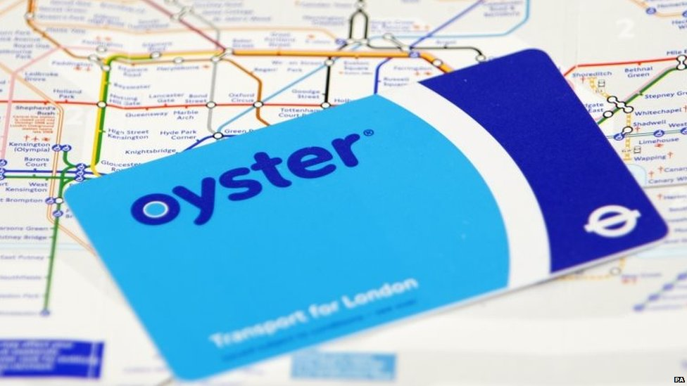 File photo dated 21/09/09 of an Oyster card as Transport for London