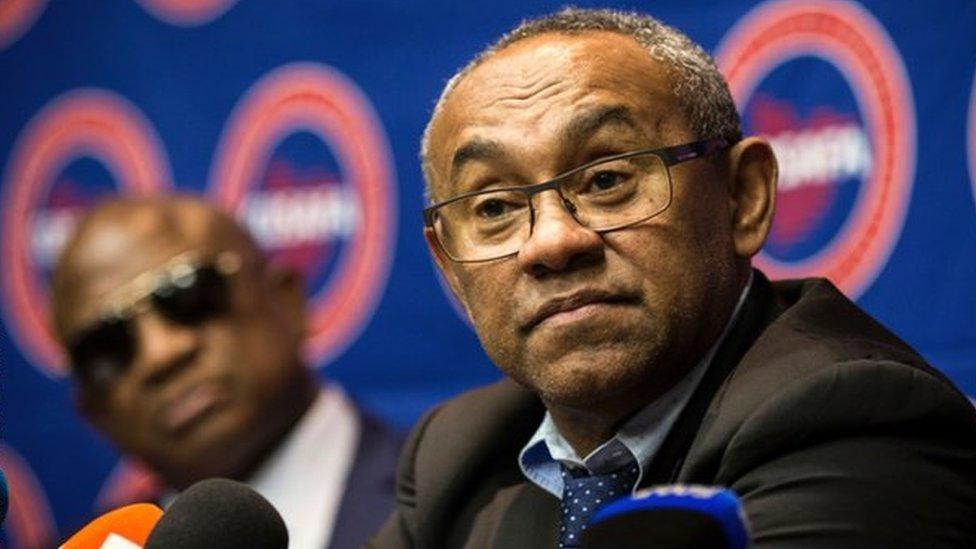 أحمد رئيس الاتحاد الأفريقي لكرة القدم