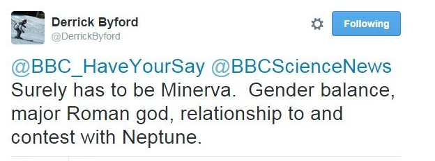 Surely has to be Minerva. Gender balance, major Roman god, relationship to and contest with Neptune.