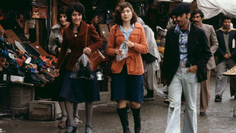Mujeres en Kabul en 1979