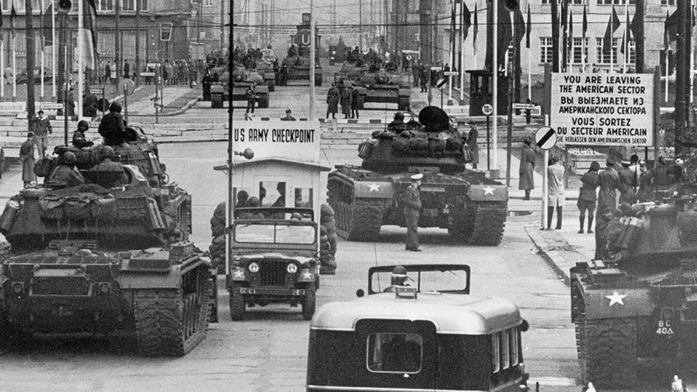 Checkpoint Charlie in the 1950s