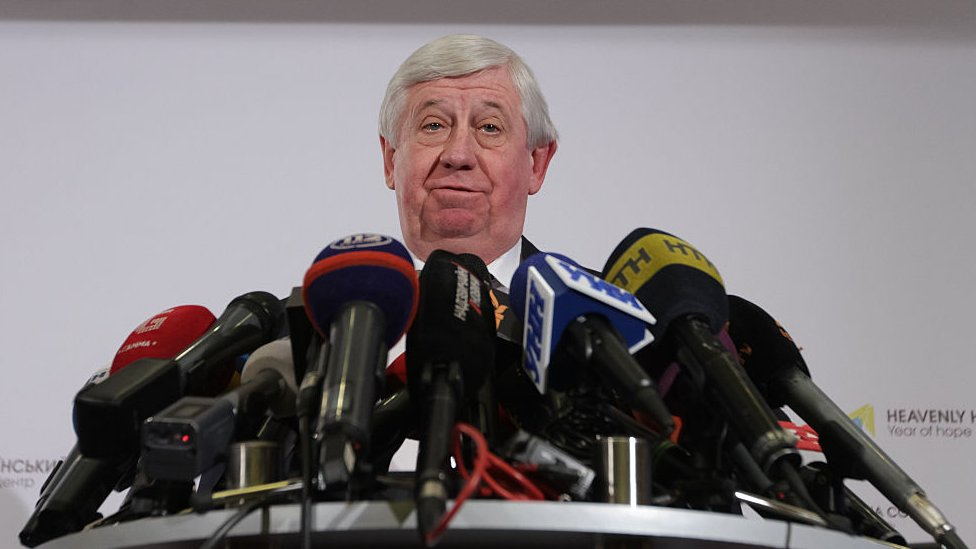 Viktor Shokin at a 2016 press conference