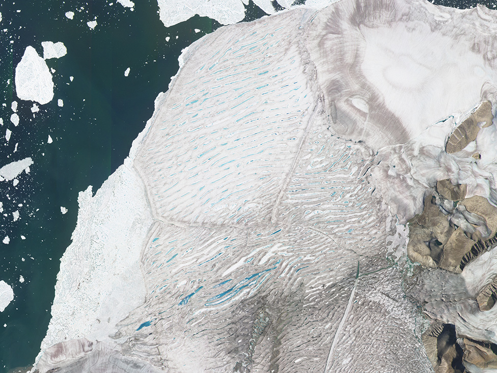 Milne Ice Shelf on 26 July