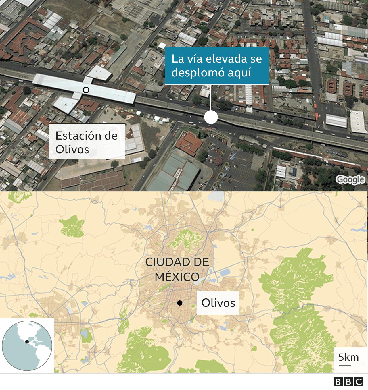 Mapa de lugar del colapso.