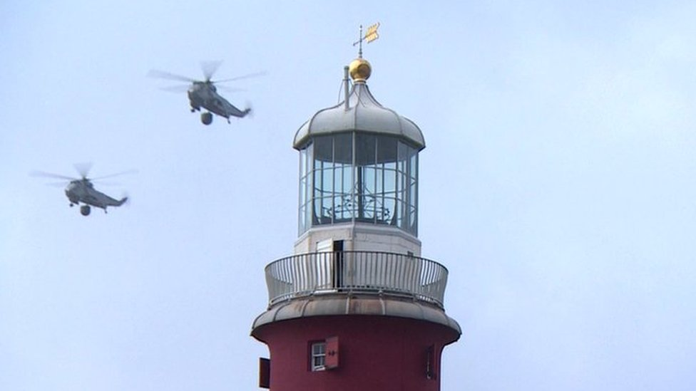 Sea King helicopters make final flight in Devon and Cornwall