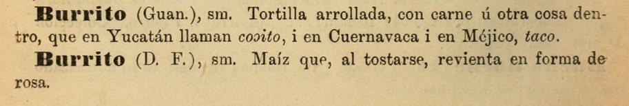 "Acepciones de ""burrito"""