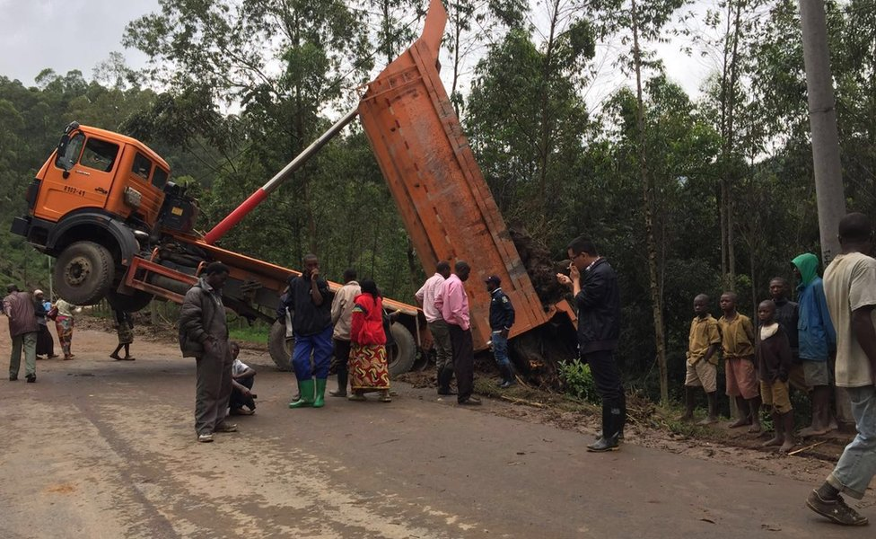 Work is under way to clear roads obstructed by landslides