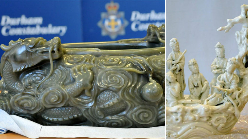 Jade bowl and porcelain figure stolen from museum in Durham