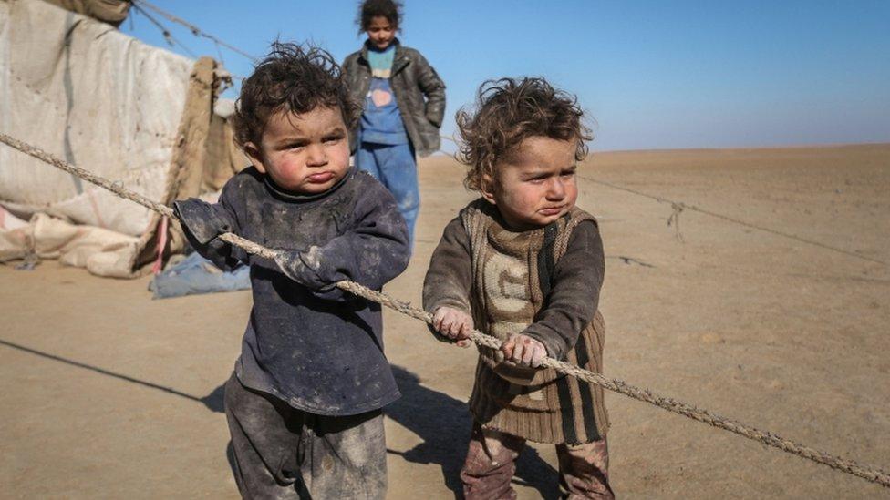أطفال بمخيم للاجئين في سوريا (أرشيف)