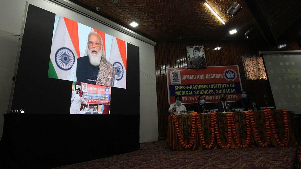 Aşı kampanyası Başbakan Modi'nin konuşmasıyla başladı.