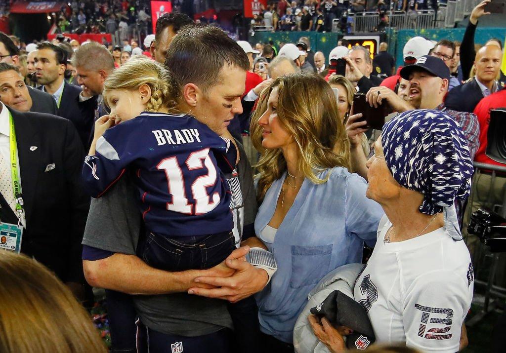 Tom Brady junto a Gisele Bündchen.