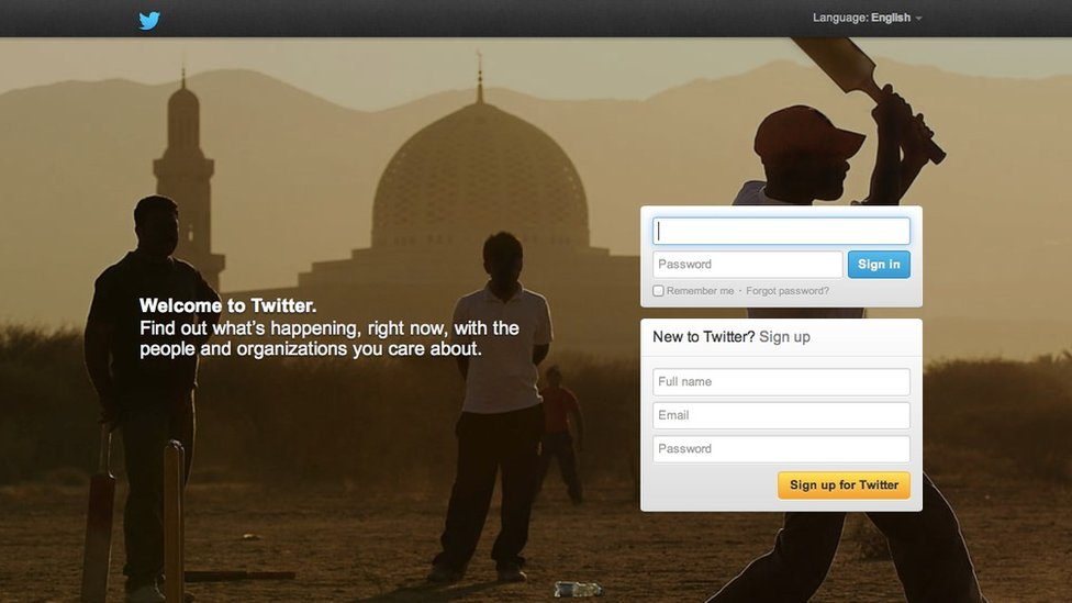 Old Twitter homepage