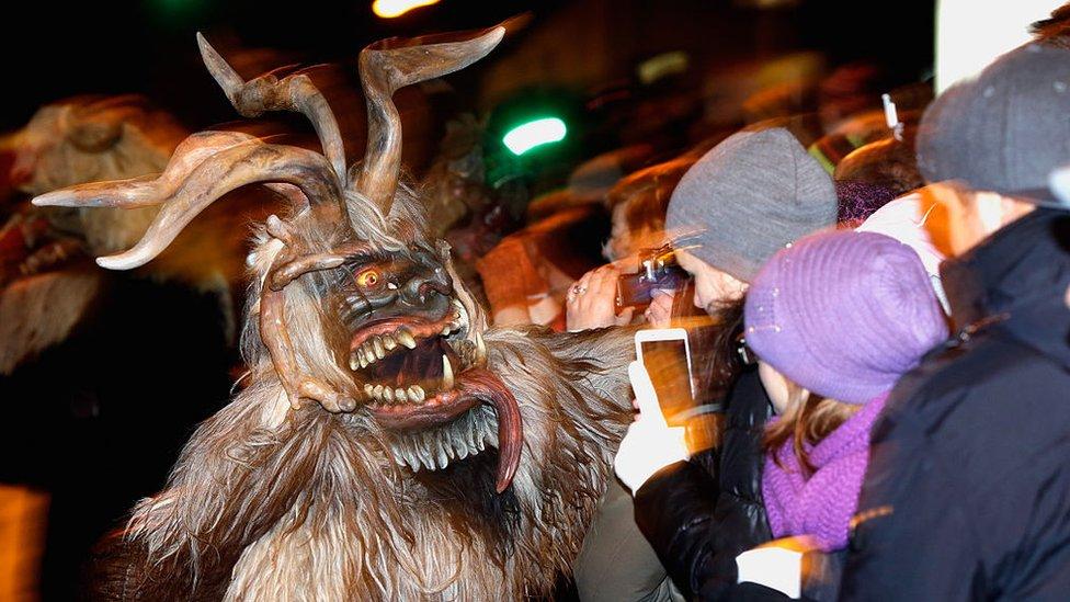 Desfile de los Krampus en Austria