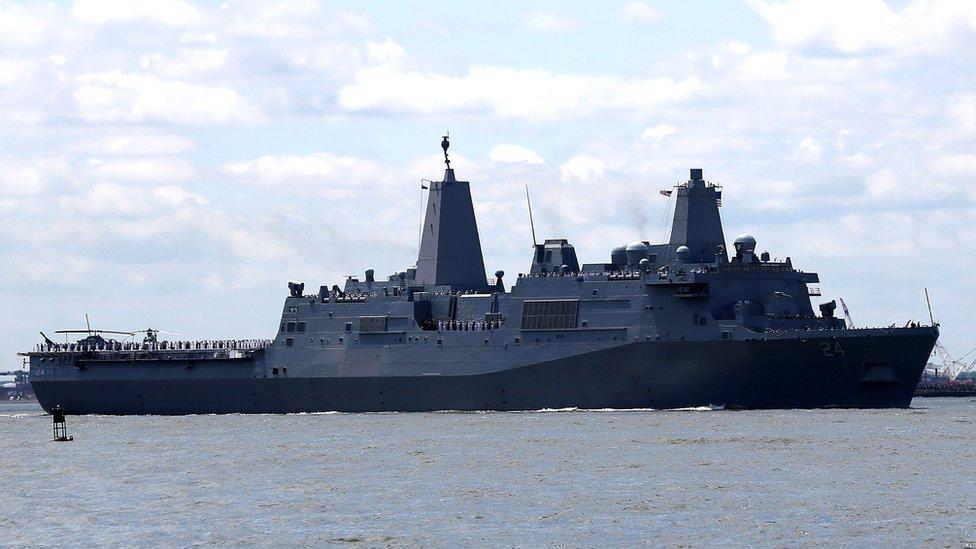 The USS Arlington military ship
