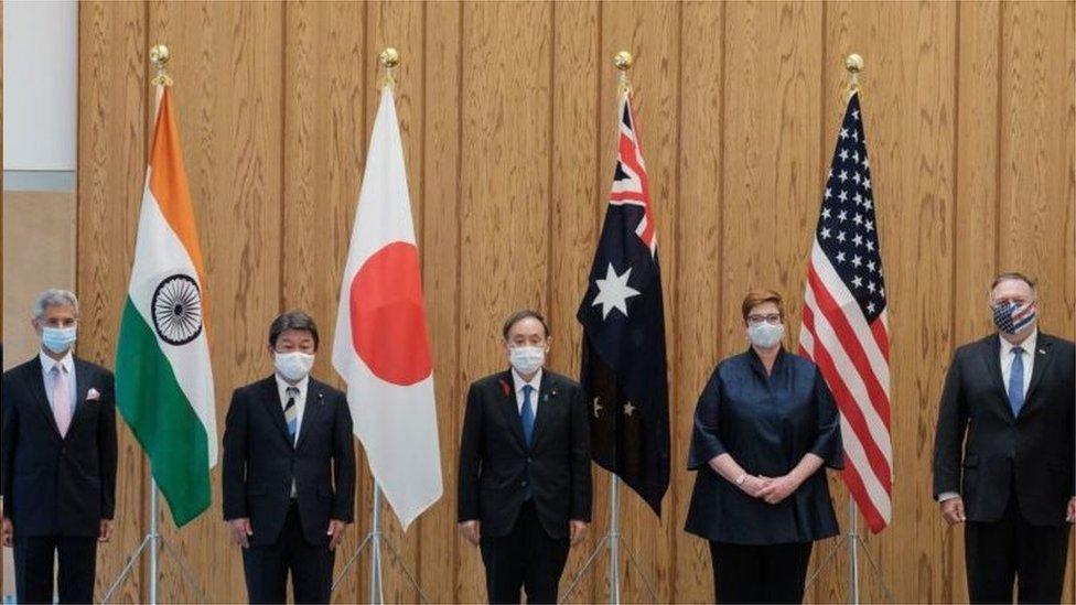 10月,美國國務卿蓬佩奧和「四國」代表會晤(photo:EBCTW)