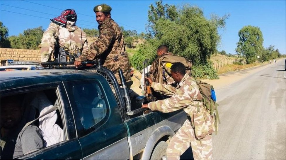 القوات الخاصة لتيغراي في الزي العسكري الاتحادي