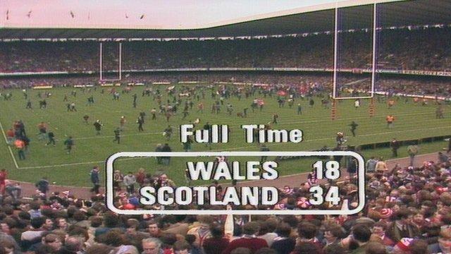 Final Score: Wales v Scotland 1982 Five Nations