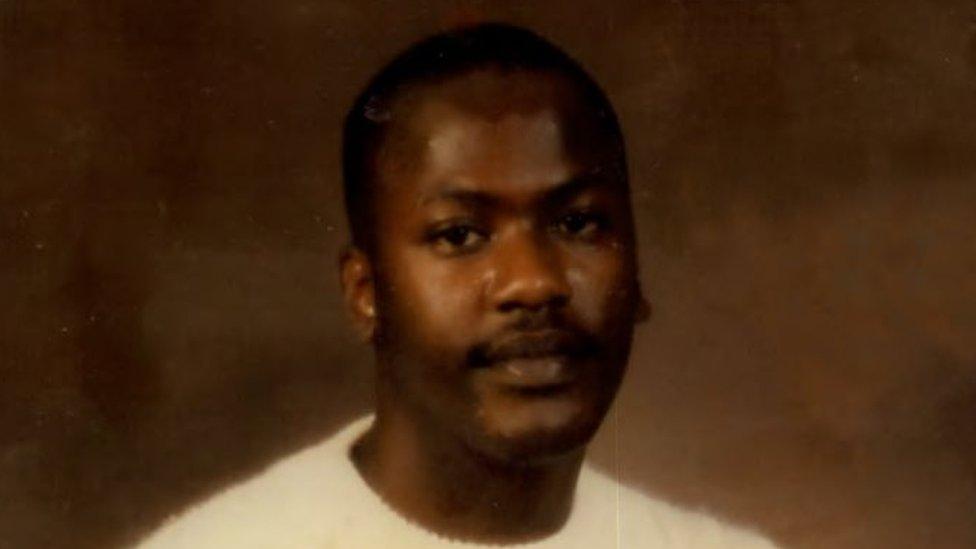 Curtis Flowers antes de ser enviado a prisión