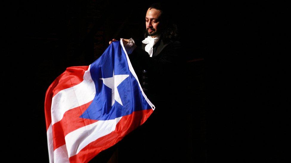 Lin Manuel Miranda in Hamilton in Puerto Rico