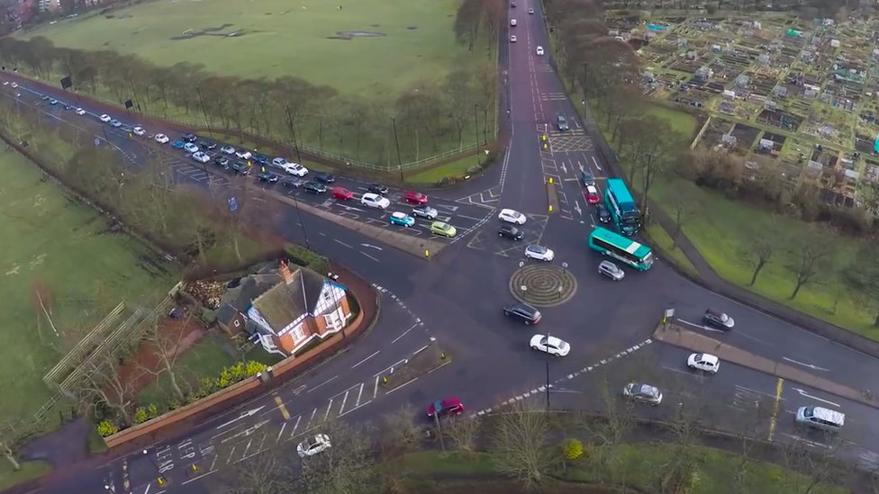 Aerial view of Blue House roundabout