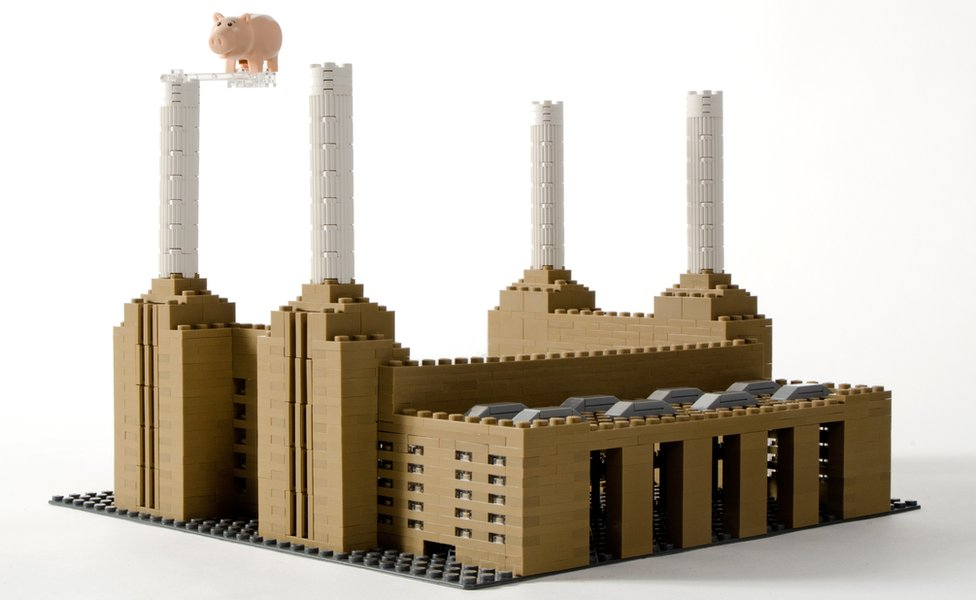 A Lego version of Battersea Power Station