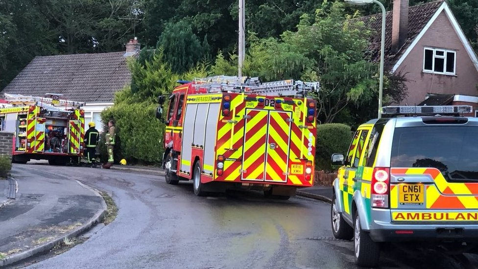 Man, 92, rescued from burning bungalow in Fleet