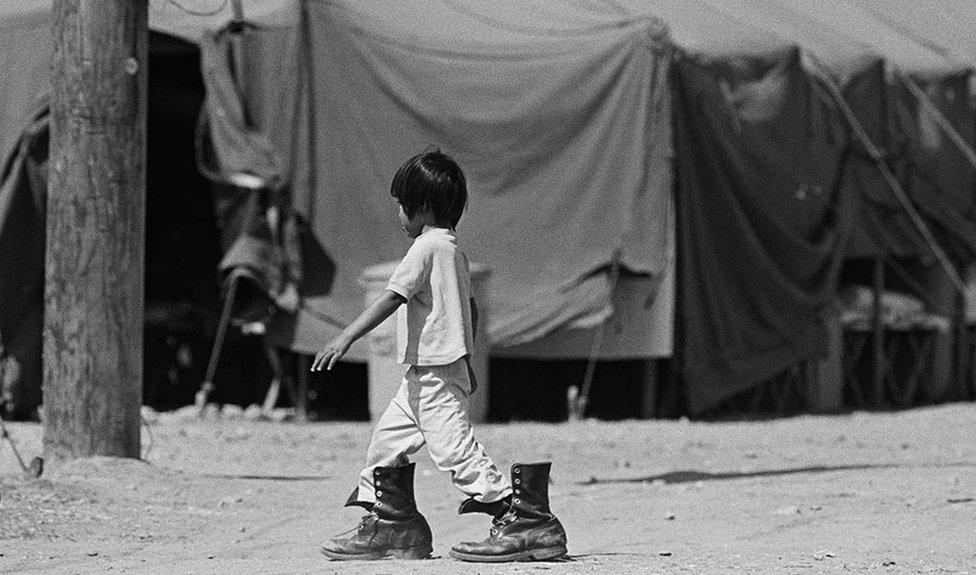 Una niña en Camp Pendleton