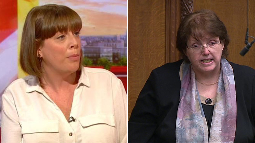 Jess Phillips and Rosie Cooper