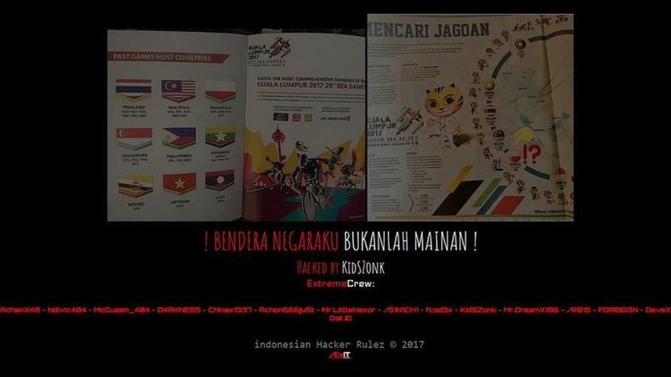 Screenshot of hacked Malaysian website belowmarketvalue.properties