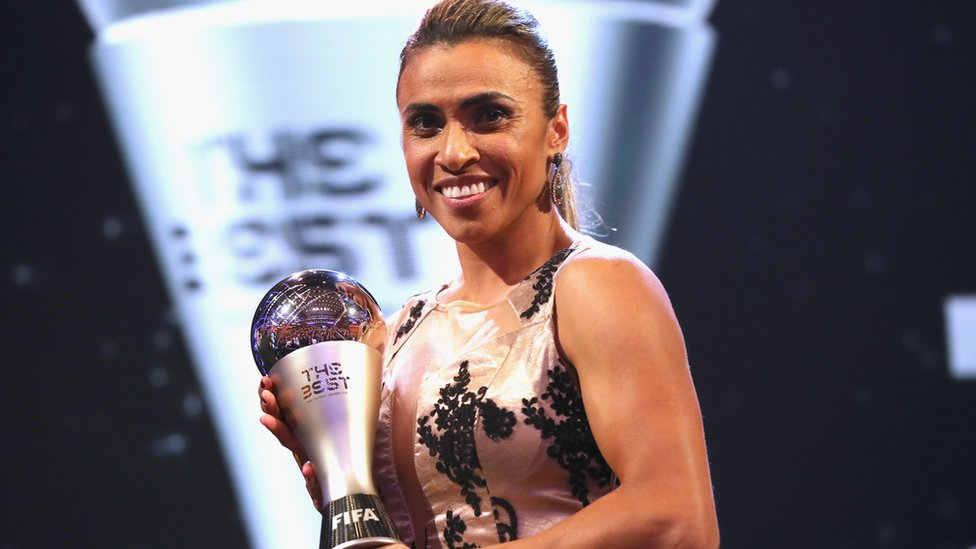 Six-time world player of the year Marta an 'inspiration' to female footballers