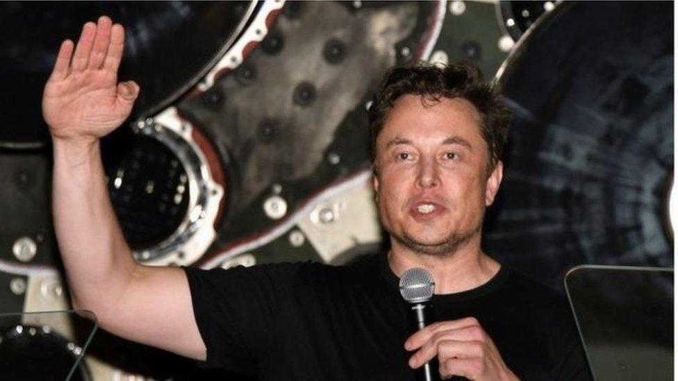 著名科技大亨、企業家馬斯克。