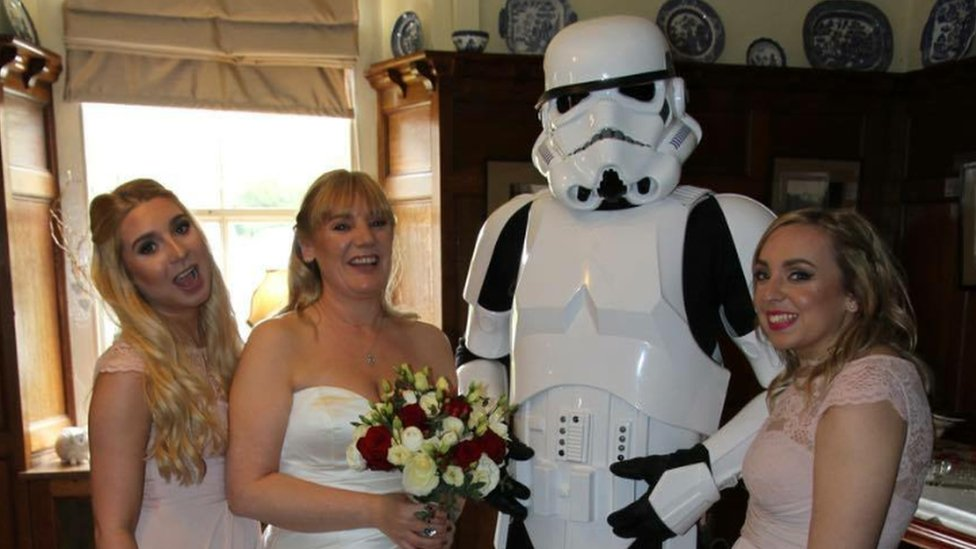 Stormtrooper at wedding