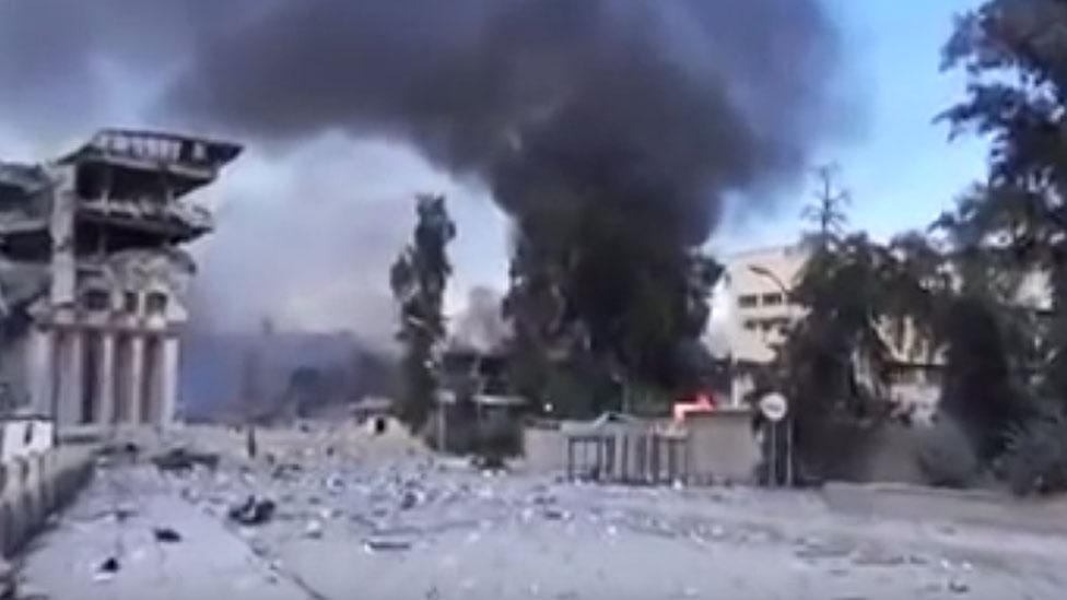 Mosul University air strike