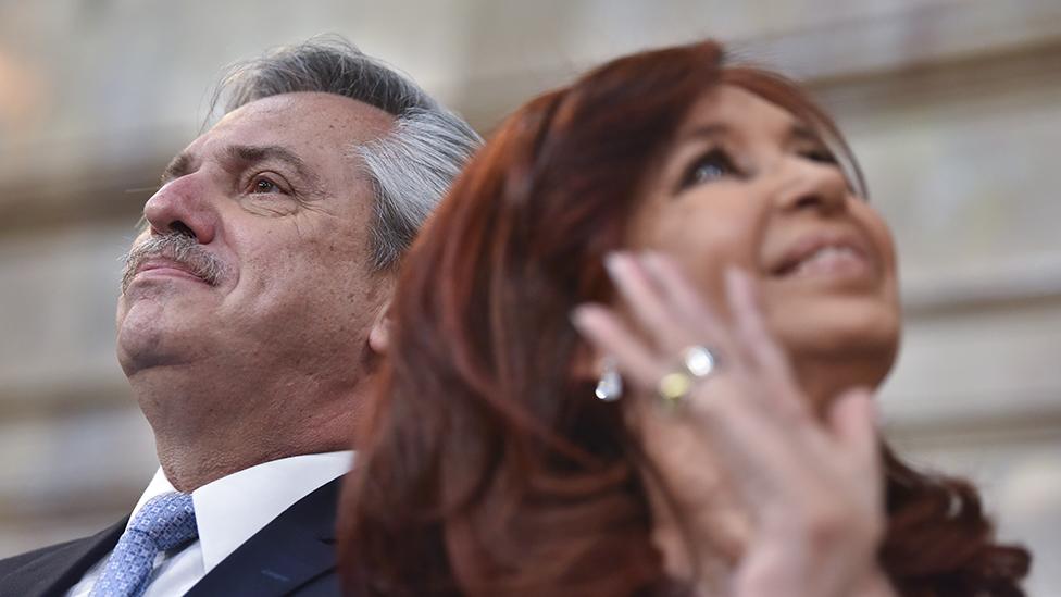 Alberto Fernández y su vice, Cristina Fernández de Kirchner