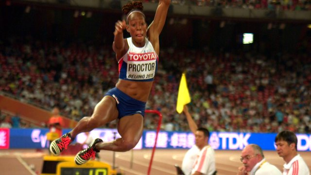 Shara Proctor jumps a British record in Beijing