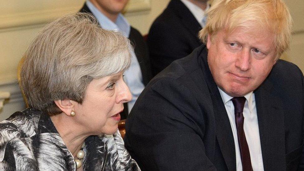 Boris Johnson with Theresa May