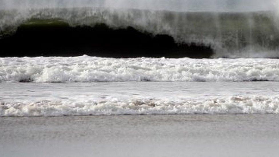 Obala Galicije, talasi, severo-zapad Španije