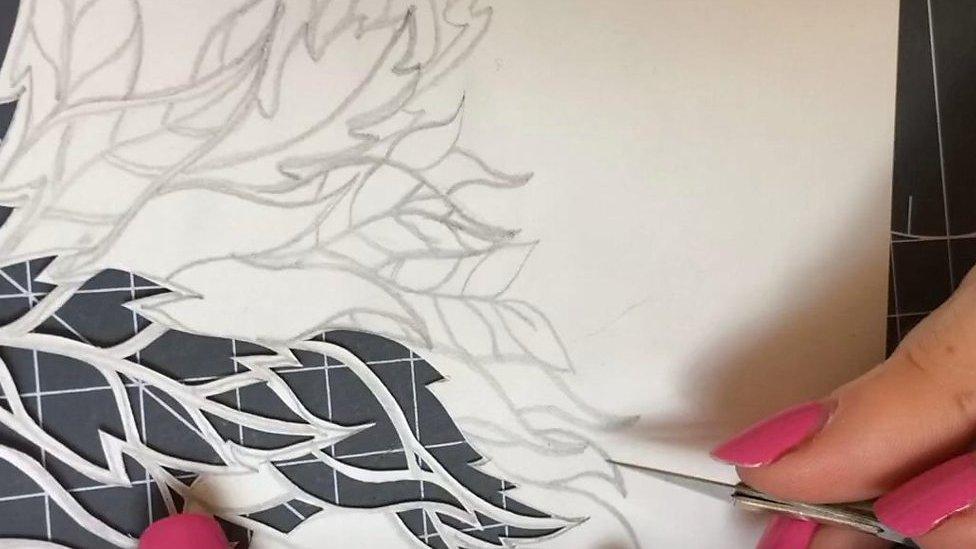 Cumbrian artist transforms paper into art
