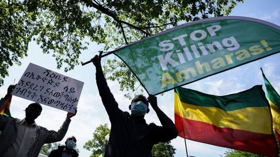 يحاول الإثيوبيون في الشتات لفت الانتباه العالمي للإعتداءات على مجموعاتهم العرقية في الوطن